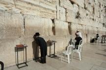 Jews Praying at the Temple Wailing Wall